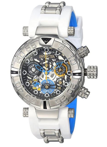 Invicta 24511 Women's Disney Limited Edition Quartz Stainless Steel and Silicone Casual White Watch