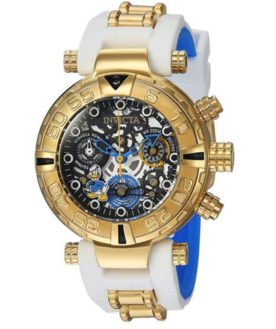 Invicta 24512 Women's Disney Limited Edition Quartz Stainless Steel and Silicone Casual White Watch