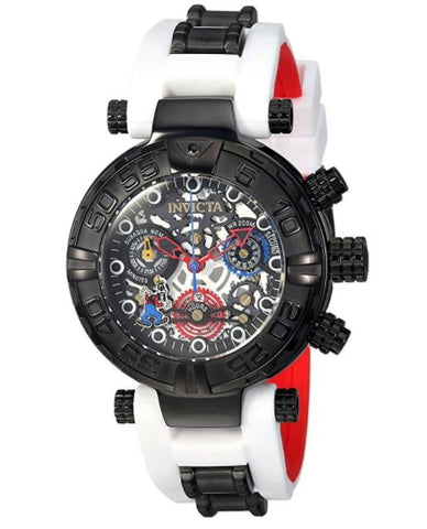 Invicta 24516 Women's Disney Limited Edition Quartz Stainless Steel and Silicone Casual White Watch