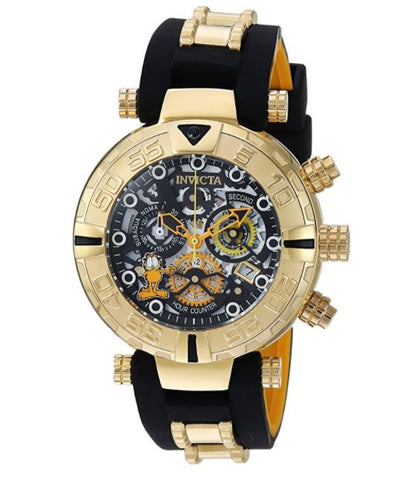 Invicta 24879 Men's Character Collection Quartz Stainless Steel and Silicone Casual Two Tone Watch