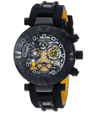 Invicta 24880 Men's Garfield Quartz Stainless Steel and Silicone Casual Black Watch