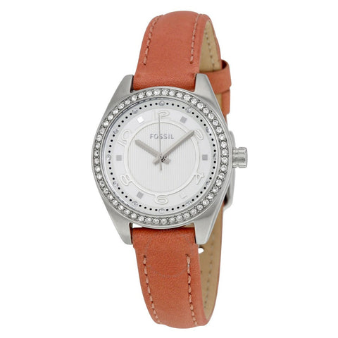 FOSSIL Pink Dusty Rose Leather Ladies Watch BQ1225 - BrandNamesWatch.com