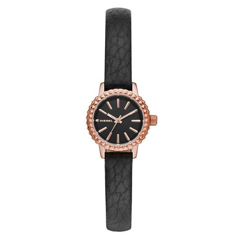 Diesel Women's Timeframe Black Leather Watch DZ5498 - BrandNamesWatch.com