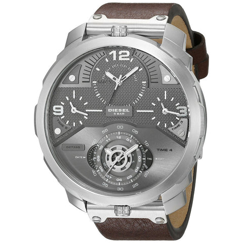 DIESEL Machinus Guntmetal Dial 4 Timezone Men's Watch DZ7360