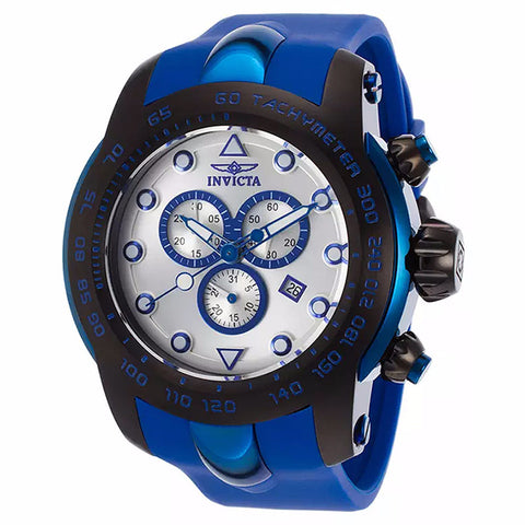 INVICTA MEN'S PRO DIVER CHRONOGRAPH SILVER DIAL BLUE SILICONE BAND WATCH 17809 - BrandNamesWatch.com