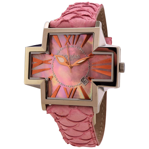 Locman Italy Plus Women's Pink Kingfish Leather Watch - BrandNamesWatch.com