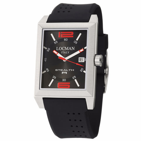 Locman Men's Watch 240BKRD1BK - BrandNamesWatch.com