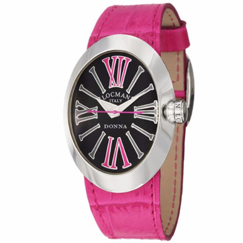 Women's Donna Quartz Black Dial Interchangeable Leather Straps - BrandNamesWatch.com