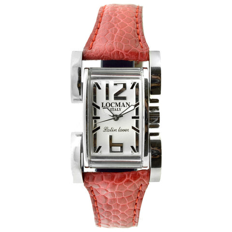 Locman Italy Latin Lover Watch Red Leather Steel Case - BrandNamesWatch.com