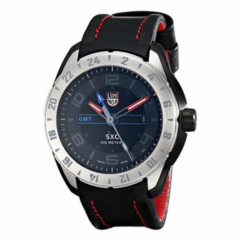 Luminox Men's A.5127 SXC PC Carbon GMT Analog Display Analog Quartz Black Watch - BrandNamesWatch.com