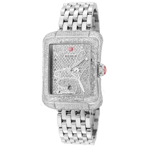 Michele Extreme Butterfly Ultimate Pave Diamond Women's Watch MWW04B000022 - BrandNamesWatch.com