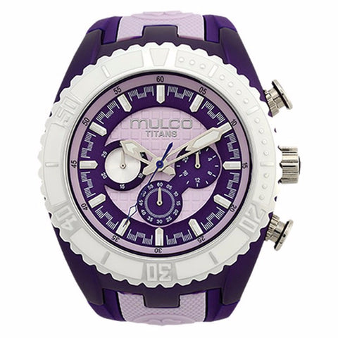 MULCO Titans Wave Chronograph BPurple and Pink Dial Womans Watch MW5-1836-051 - BrandNamesWatch.com