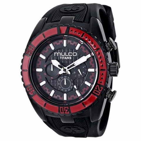 MULCO Titans Wave Chronograph Black Dial Black Silicone Unisex Watch MW5-1836-065 - BrandNamesWatch.com