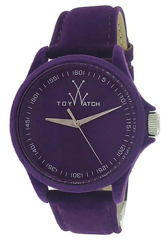 Toy Watch Sartorial Only Time Purple Dial Purple Velvet-covered Leather Ladies Watch PE06VL