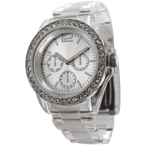 FMD by Fossil Women's Standard 3-Hand Chronograph Plastic Watch FM-CT385 - BrandNamesWatch.com