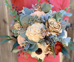 Teton Wood Blooms: Wild Style Sola Wood Flower Bouquet