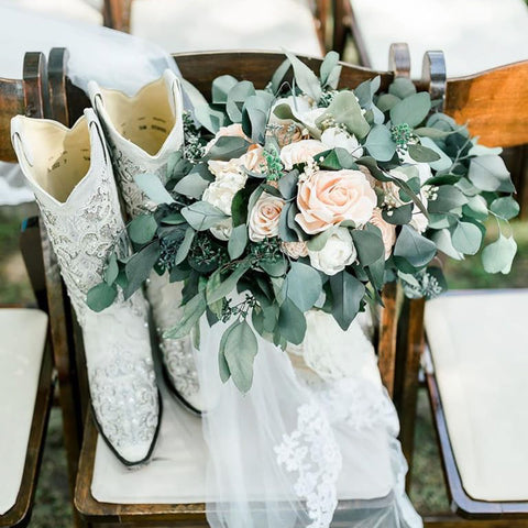 Blissful Blooms: Arrangement and Boots