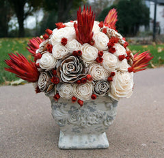 Chelise Michelle Wedan: Raw and Red in Distressed Vase