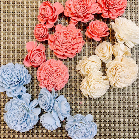 DIY Sola Wood Flowers Wall Decor Dyed Flowers