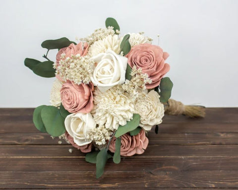 Forever Floral Dusty Rose bouquet