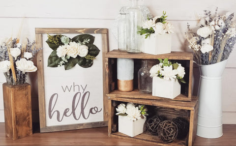 Sola Wood Flowers Assorted Decor