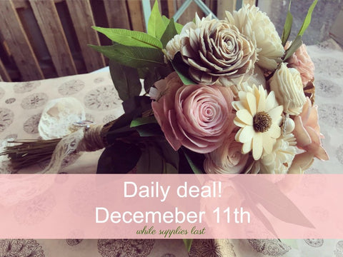 Daily Deal Sola Wood Flowers Bouquet DIY