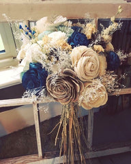 Sola wood flower bouquet made by one of our customers!