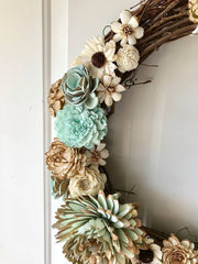 Sola wood flower wreath