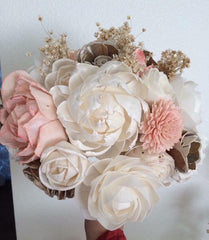 Sola wood flower bouquet made by one of our customers.