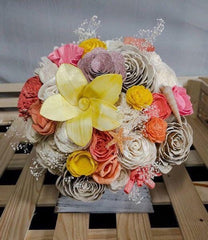 Wood flower bouquet made by one of our customers!