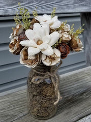 Wood Flower bouquet made by one of our customers.