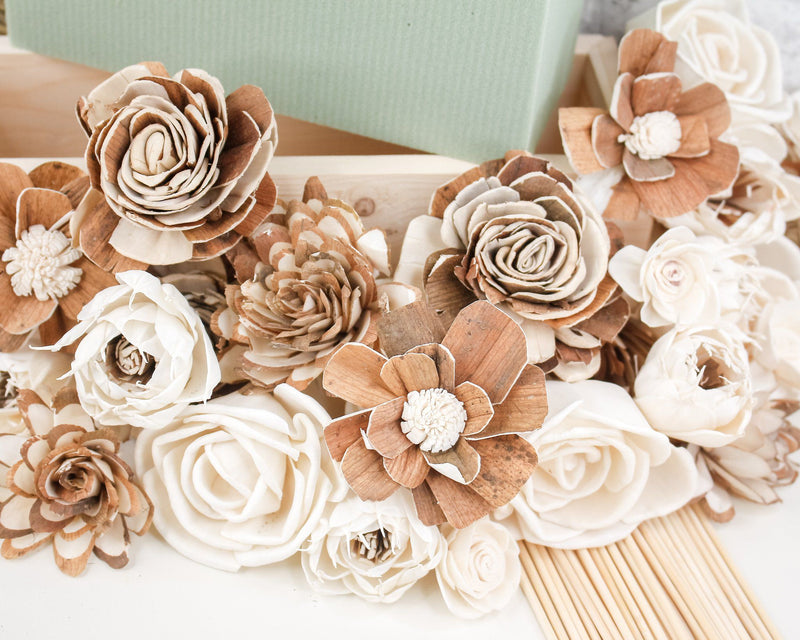 Sola Wood Flowers Craft Kit DIY Valentine's Centerpiece Craft Kit