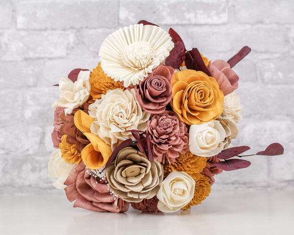 Sola Wood Flowers Craft Kit Fall Doll Bouquet Kit