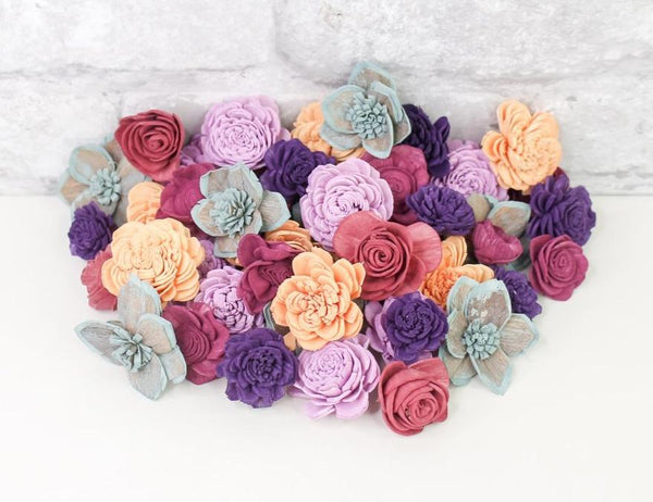 Sola Wood Flowers Dyed flowers Colors Of The Wind Mini Assortment