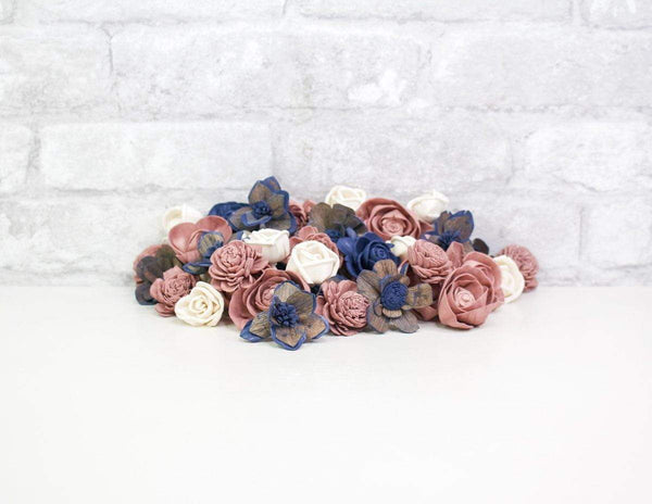 Sola Wood Flowers Dyed flowers Long Song Mini Assortment