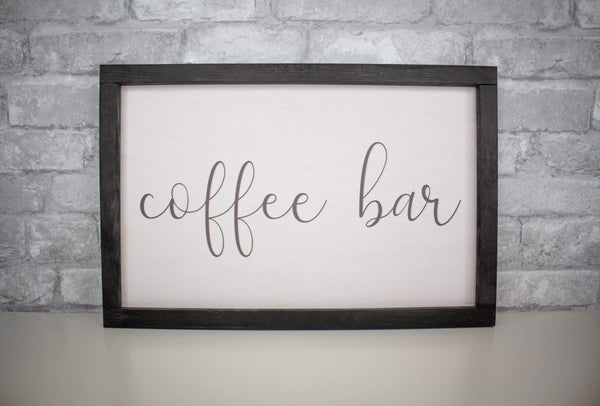 Sola Wood Flowers Wood print Coffee Bar - Wood Print