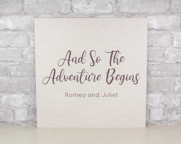 Sola Wood Flowers Wood Print The Adventure Begins Custom Wood Print