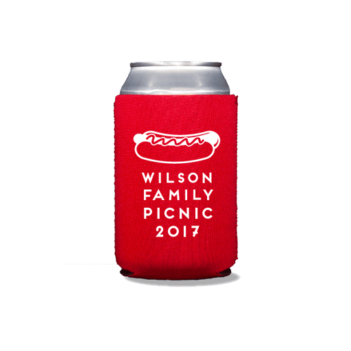 Hotdog Picnic Can Coolers