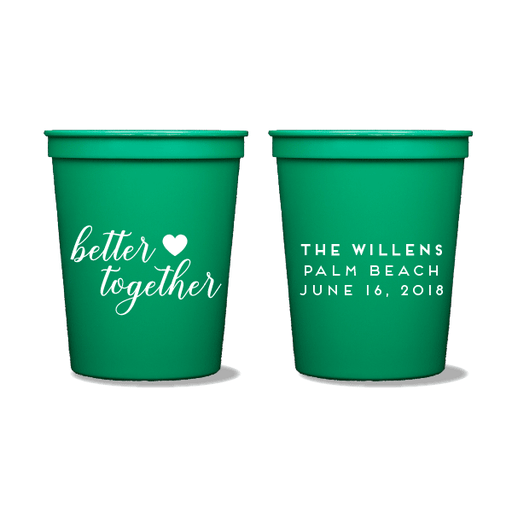 Better Together Party Cups