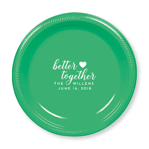 Better Together Plastic Plates