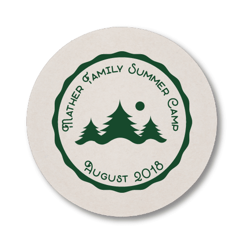 Family Summer Camp Coasters
