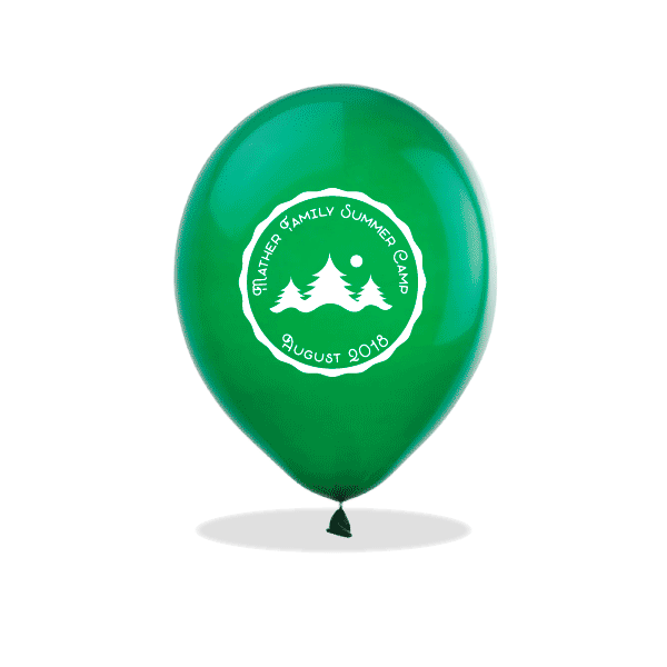 Family Summer Camp Latex Balloons