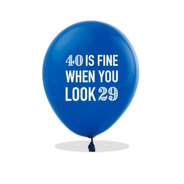 40 is Fine Latex Balloons