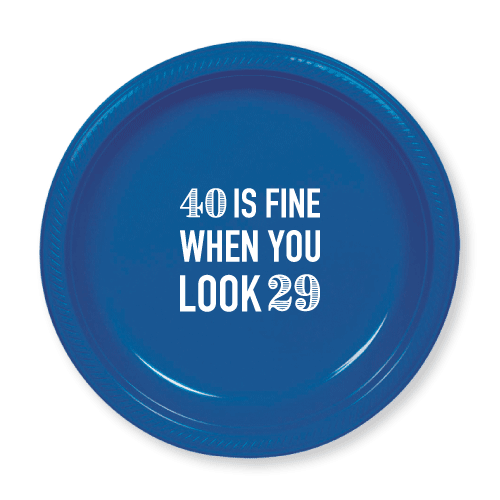 40 is Fine Plastic Plates