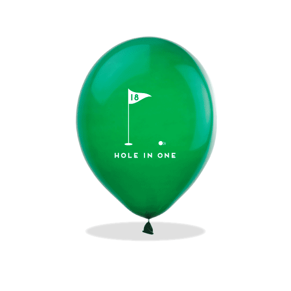 Hole In One Latex Balloons