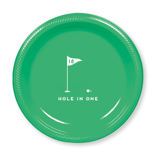 Hole In One Plastic Plates