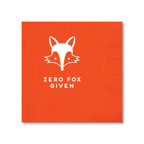 Zero Fox Given Cocktail Napkins