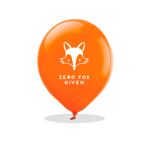Zero Fox Given Latex Balloons