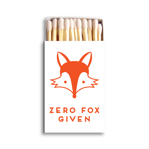 Zero Fox Given Matchboxes