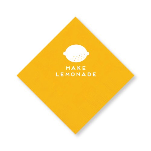 Make Lemonade Cocktail Napkins